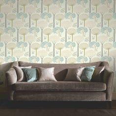 Arthouse Bernwood Trees Forest Wallpaper - Teal - http://godecorating.co.uk/arthouse-bernwood-trees-forest-wallpaper-teal/