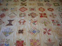 A Quilting Life: Farmer's Wife Revisited used all fig tree fabrics