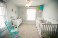 New Parents Welcome Baby Girl with Pink, Green, and Blue Nursery | Done Brilliantly