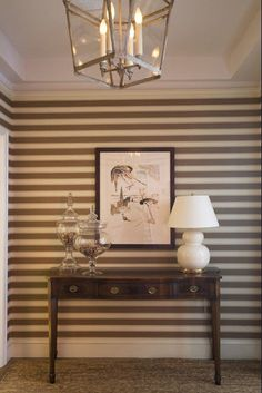 thin horizontal stripes....@Lygia Waters you could totally pull this off somewhere in your house:)