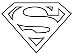 Use this logo! Superman Logo Black And White Clipart