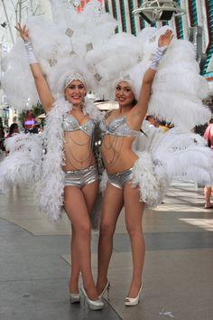 Show Girls on Fremont St. Las Vegas