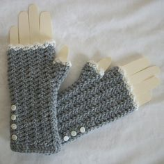 Romance Fingerless Mitts (Crocheted-Beginner) - perhaps an initial project for my adventures in Crocheting.