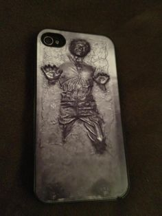 Han Solo in carbonite iPhone case. this makes me want an iphone just so i can get this case lol Buy Iphone, Iphone Cases, Geek Movies, Star War 3, Funny As Hell, Geek Chic, Star Wars Art, Nerdy, Pop Culture