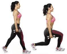 exercícios de avanço para deixar o bumbum na nuca