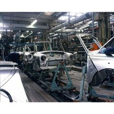 Longbridge Mini assembly old photo by Classic Mini, Classic Cars, Mini Morris, Assembly Line, Import Cars, Abandoned Cars, Small Cars, Cool Websites, Hot Cars