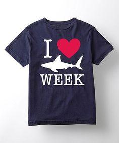 Loving this Navy 'I Love Shark Week' Tee - Toddler & Kids on #zulily! #zulilyfinds