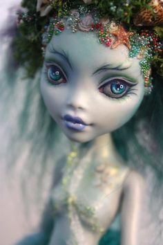 Re-painted Laguna Monster High doll