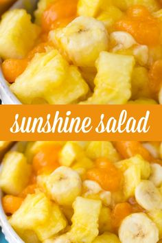 Salad Sunshine Salad - A delicious fruit salad that is only 2 Weight Watcher's Points Plus per one cup serving.Sunshine Salad - A delicious fruit salad that is only 2 Weight Watcher's Points Plus per one cup serving. Salad Recipes For Dinner, Fruit Salad Recipes, Fruit Snacks, Summer Fruit Salads, Easy Fruit Salad, Food Salad, Summer Salad, Potluck Dishes, Fruit Dishes