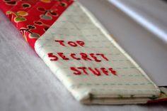 Jennifer's Fabric Focus ~ Patchwork Notebooks Free Pattern | Sew Mama Sew |