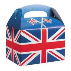 Union Jack Party Box ....fill with vintage sweeties as a party favor