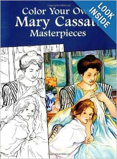 Kindergarten Art Appreciation: Mother and Child. I love this Mary Cassatt coloring book featured on Artchoo!