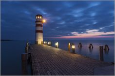 size: Photographic Print: Lighthouse in Podersdorf at the Lake, Lake Neusiedl, Burgenland, Austria, Europe by Gerhard Wild : Entertainment Yosemite National Park, National Parks, Beach Landscape, Ways Of Seeing, Digital Technology, Professional Photographer, Cn Tower, Find Art, Framed Artwork
