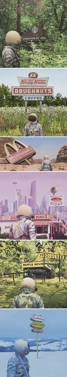 "paintings by scott listfield - new series ""franchise"" <3"