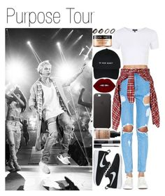 """Purpose Tour"" by itslorgina ❤ liked on Polyvore featuring ASOS, Justin Bieber, Signature 8, R13, Topshop, NIKE, Lime Crime, Christian Dior, Lancôme and outfit"
