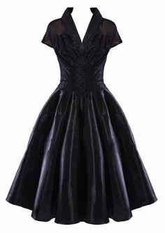 1950s Classic Taffeta Dress  http://www.20thcenturyfoxy.com/en/product/1950s-classic-taffeta-dress#