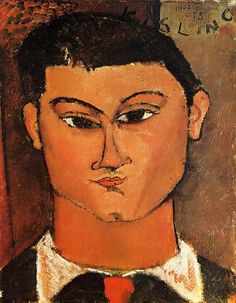Portrait of Moise Kisling, 1915 - oil on canvas (Pinacoteca di Brera, Milan, Italy)    Kisling was a fellow painter, and lived in the same building on Montparnasse as Modligiani…