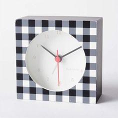 めざまし時計 テーブルクロック・グレイス/マークスフィア/チェック