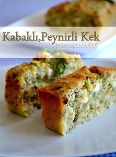 kabaklı kek Mad, Turkish Recipes, Albanian Recipes, Muffin Recipes, Cake Recipes, Gratin, Cheesecake, Salty Cake, Yummy Food