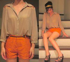 Stylish and sophisticated Orange Shorts, Brown Shorts, Red Shorts, 2 Way, Orange Slices, Cozy Sweaters, Leather Jacket, My Style, Stylish