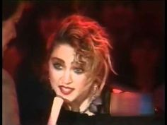 Madonna on American Bandstand w/ Dick Clark 1984,