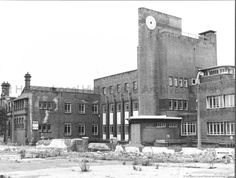 MCL/5/4 Black and white photograph showing the Head Office of Pilkington PLC Sheet Works, Canal Street, St.Helens 1986.   .MCL - Clare Collection 5 - Black and white photographs related to industrial history in St.Helens