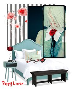 """""""Poppy Lover"""" by jacque-reid ❤ liked on Polyvore featuring interior, interiors, interior design, home, home decor, interior decorating, Redford House, Olgana, Balenciaga and Rovan"""