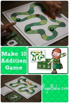 Make 10 Addition Game.  Practice addition 10 facts with this fun and simple game!