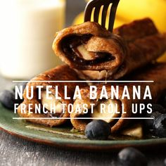 These melt-in-your-mouth Nutella Banana French Toast Roll Ups are one of the sweet breakfast recipes perfect to make on a Sunday morning or on a special occasion! Drizzle them with a sauce of your choice and serve them with some berries. Chocolate French Toast, Nutella French Toast, Banana French Toast, Cinnamon French Toast, Pumpkin French Toast, Breakfast Toast, Sweet Breakfast, Breakfast Recipes, Mexican Breakfast