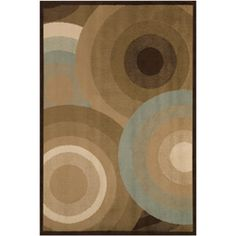 @Overstock.com - A geometric pattern adorns this contemporary rug. This stylish area rug is highlighted with shades of brown and aqua.http://www.overstock.com/Home-Garden/Loomed-Free-form-Contemporary-Chocolate-Rug-53-x-76/5540724/product.html?CID=214117 $81.99
