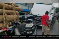 Camara de seguridad capta imágenes de choque de camion a Jeepeta camino a San Jose de las Matas
