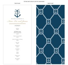Program for the day - Nautical - by Invitation Gallery