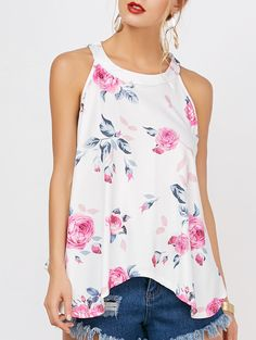 SHARE & Get it FREE | Floral Print Raceback Tank TopFor Fashion Lovers only:80,000+ Items • New Arrivals Daily • Affordable Casual to Chic for Every Occasion Join Sammydress: Get YOUR $50 NOW!
