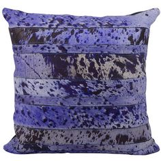 Mina Victory Natural Leather and Hide Acidwash Stripe Purple Throw Pillow x by Nourison Black(Polyester) - Area Rugs - Products - Cool Decorative Pillows Purple Throw Pillows, Leather Throw Pillows, Contemporary Decorative Pillows, Decorative Throw Pillows, Leather Pieces, Natural Leather, Purple Rugs, Purple Bedding, Natural Hair