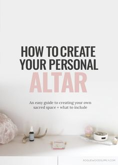 Sometimes, you just need a little space. Sometimes, you need a little room to breathe. To think. To reflect. Having your own little space to take a little space for yourself ,can be a total game changer for your personal well-being. Personal altars are a great tool for the mo