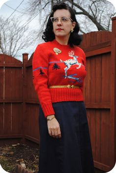 It's beginning to look a lot like Christmas pullover time   by gum, by golly! #vintage #fashion
