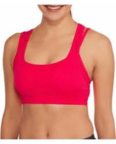 d64c6cd056 Danskin Now Women s Double-Layer Sports Bra. Coral