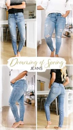 reg and plus size jeans Trendy Online Boutiques, Circular Pattern, White T, Plus Size Jeans, Clothing Items, Best Sellers, Trendy Fashion, Elastic Waist, Light Blue