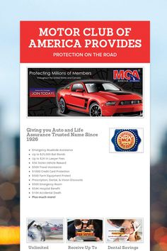 MOTOR CLUB OF AMERICA PROVIDES UNLIMITED ROADSIDE ASSISTANCE