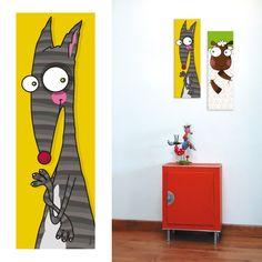 Tableau décoratif chambre enfant Tête de Loup Acte Deco