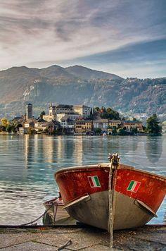 Lake Orta, Italy Cusio Piemonte.
