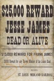 Jesse James Wanted Poster!