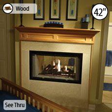 wood burning see thru
