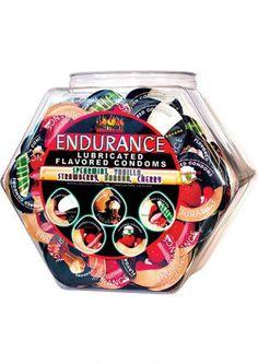 Endurance Lubricated Flavored Condoms 144 Per Bowl #SexToysShop #SexToys #Sexy #condoms #condom #Contempo #Impulse #Lifestyles #Durex #NonLatex #Latex #contempo #Kimono #resevoir #lelo #lubricated #XXL #Trojan #BritishCondoms #Trustex #Strawberry #Magnum #Spermicidal #Ecstasy #ClimaxControl #Naturalamb #Endurance