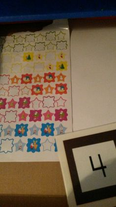Counting Christmas stickers