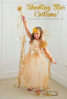 Easy DIY Shooting Star Halloween Costume by Kara's Party Ideas | Kara Allen | KarasPartyIdeas.com for Michaels #michaelsmakers