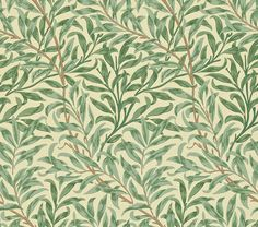 Discover hundreds of wallpaper ideas on HOUSE - design, food and travel by House & Garden including Willow Boughs by Morris & Co Green Wallpaper, Print Wallpaper, Room Wallpaper, Fabric Wallpaper, Pattern Wallpaper, Wallpaper Designs, Wallpaper Ideas, William Morris Wallpaper, Morris Wallpapers