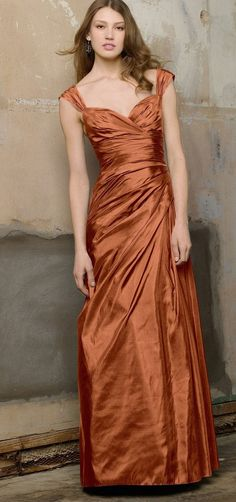 Copper Bridesmaid Dresses pertaining to Trending 2020 - Wedding Ideas MakeIt - 2020 Fashions Woman's and Man's Trends 2020 Jewelry trends Copper Bridesmaid Dresses, Classic Bridesmaids Dresses, Taffeta Bridesmaid Dress, Color Cobre, Copper Color, Rust Color, Copper Dress, Copper Wedding, Mode Top