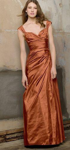 copper bridesmaid dress...love love love this!!! | LOVE THIS ...