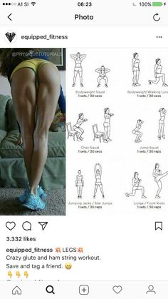 Women's Health And Fitness Week Fitness Workouts, Fitness Motivation, Butt Workout, At Home Workouts, Slimmer Legs Workout, Thigh Exercises, Workout Challenge, Get In Shape, Excercise